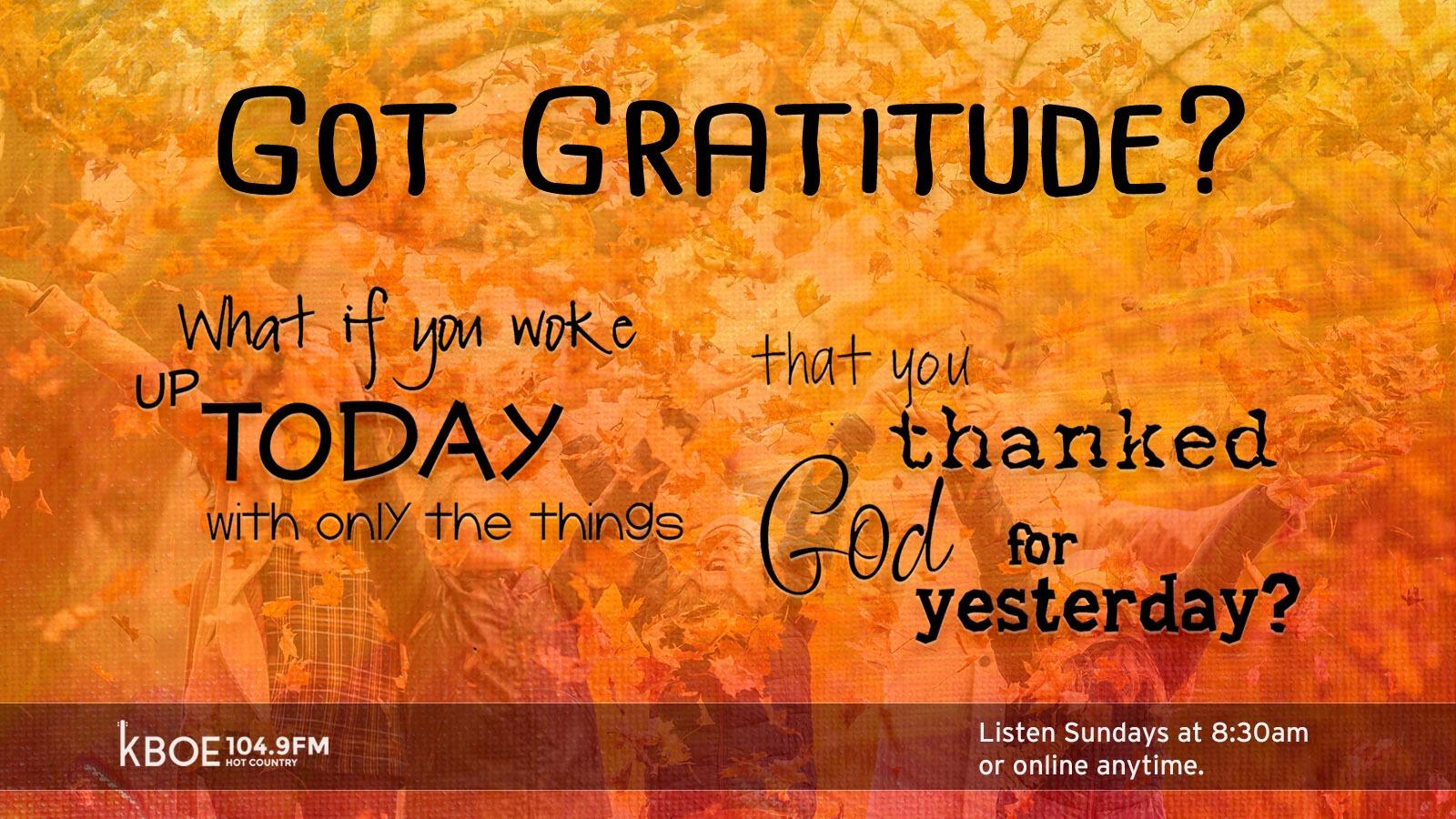 Gratitude Series on KBOE